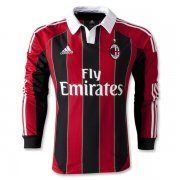 12-13 AC Milan Home Long Sleeve Soccer Jersey Shirt