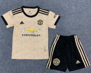 Children Manchester United Away Soccer Suits 2019/20 Shirt and Shorts