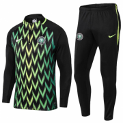 2018 Nigeria Tracksuits Green/Black and Pants
