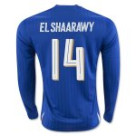 Italy Home Soccer Jersey 2016 EL SHAARAWY #14 LS