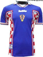 Croatia Retro Away Soccer Jersey Shirt 1998