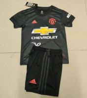 Children Manchester United Third Away Soccer Suits 2019/20 Shirt and Shorts