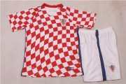 Kids Croatia Home Soccer Jersey 2016 Euro With Shorts