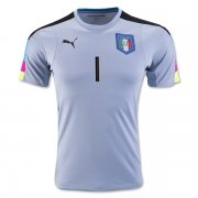 Italy Blue Goalkeeper Jersey Euro 2016 Buffon #1
