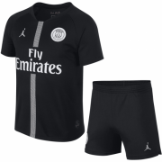 Kids 18-19 PSG 3rd Black Jersey Kits