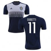 Sweden Away Soccer Jersey 2016 11 Guidetti