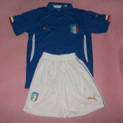 Kids 2014 World Cup Italy Home Whole Kit(Shirt+Shorts)