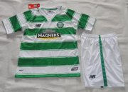 Kids Celtic Home Soccer Kit 2015/16 (Shorts+Shirt)