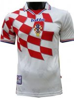Croatia Retro Home Soccer Jersey Shirt 1998
