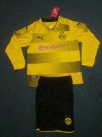 Dortmund Home Soccer Suits 2017/18 Shirt and Shorts Kids LS