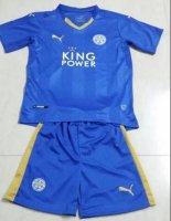 Kids Leicester City Home Soccer Kit 2015-16(Shirt+Shorts)