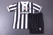 Kids Juventus 13/14 Home Jersey Kit(Shirt+shorts)