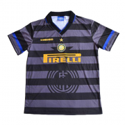 Inter Milan 97/98 Europa League Away Black Retro Jerseys Shirt