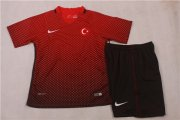 Kids Turkey Home Soccer Jersey 2016 Euro With Shorts