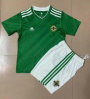 Children Northern Ireland Home Soccer Suits 2020 EURO Shirt and Shorts