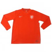 2014 WORLD CUP NETHERLANDS LONG SLEVEE HOME SOCCER JERSEY