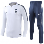 2 Stars 2018 France Training Top White and Pants