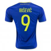 Bosnia and Herzegovina Home Soccer Jersey 2016 IBISEVIC #9