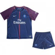 PSG Home Soccer Suits 2017/18 Shirt and Shorts Kids
