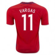 Chile Home Soccer Jersey 2016 Vargas 11