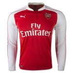Arsenal Home Soccer Jersey 2015-16 LS