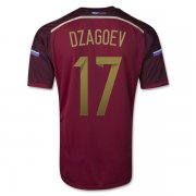 2014 Russia #17 DZAGOEV Home Red Jersey Shirt