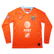 Club America Third Away Orange Long Sleeve Jerseys Shirt 2019