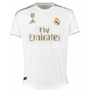 19-20 Player Version Real Madrid Home Soccer Jersey Shirt with Champions Badge