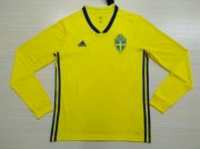 Sweden Home Soccer Jersey LS 2018 World Cup