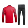 AC Milan Red Zipper Sweat Shirt Kit 19/20 (Top+Trouser)