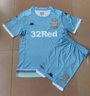 Children Leeds United Third Away Blue Soccer Suits 2019/20 Shirt and Shorts