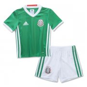 Kids Mexico Home Soccer Jersey 2016-17 With Shorts
