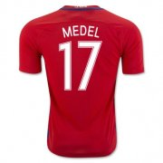 Chile Home Soccer Jersey 2016 Medel 17