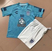 Children Pachuca Away Blue Soccer Suits 2019/20 Shirt and Shorts