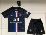 Children PSG Fourth Away Soccer Suits 2019/20 Shirt and Shorts