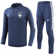 2 Stars 2018 France Training Top Blue and Pants