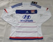 Lyon Long Sleeve Home Soccer Jersey 2015-16