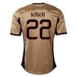 13-14 AC Milan #22 KAKA Away Golden Jersey Shirt