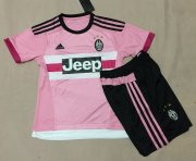 Kids Juventus Away Soccer Kit 2015-16(Shirt+Shorts)