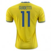 Sweden Home Soccer Jersey 2016 11 Guidetti