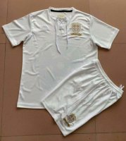 Children Leeds United Anniversary White Soccer Suits 2019/20 Shirt and Shorts
