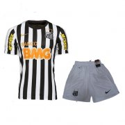 12-13 Santos FC Away Black&White Jersey Kit(Shirt+Shorts)