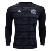 Mexico Gold Cup Home Black Long Sleeve Jerseys Shirt 2019