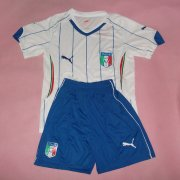Kids 2014 World Cup Italy Away Whole Kit(Shirt+Shorts)