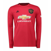 Manchester United Long Sleeve Home Soccer Jersey Shirt 19-20