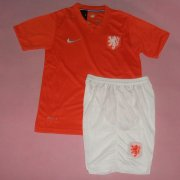 Kids 2014 World Cup Netherlands Home Whole Kit(Shirt+Shorts)