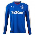 Rangers Glasgow Home Soccer Jersey 2015-16 LS
