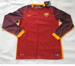 Roma Home Soccer Jersey 2015-16 LS
