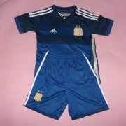 Kids 2014 World Cup Argentina Away Whole Kit(Shirt+Shorts)