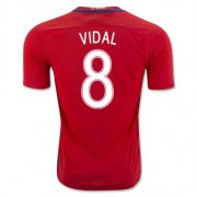 Chile Home Soccer Jersey 2016 Vidal 8